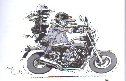 Dessin De Motard galerie dessins motards humoristique